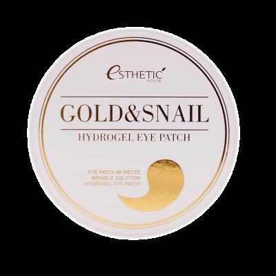 ESTHETIC HOUSE Гидрогелевые патчи для глаз ЗОЛОТО/УЛИТКА Gold&Snail Hydrogel Eye Patch