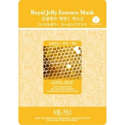 Маска тканевая для лица Mijin Essence Mask Royal Jelly маточное молочко