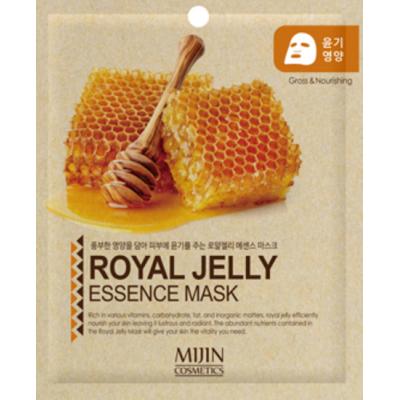 Mijin New Маска тканевая для лица с маточным молочком Royal Jelly Essence Mask