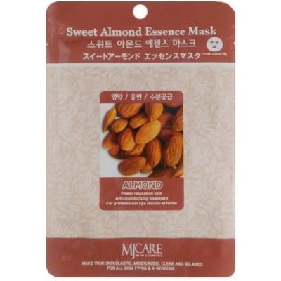 Маска тканевая для лица Mijin Essence Mask Sweet Almond миндаль