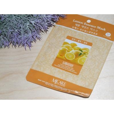 Маска тканевая для лица Mijin Essence Mask Lemon лимон