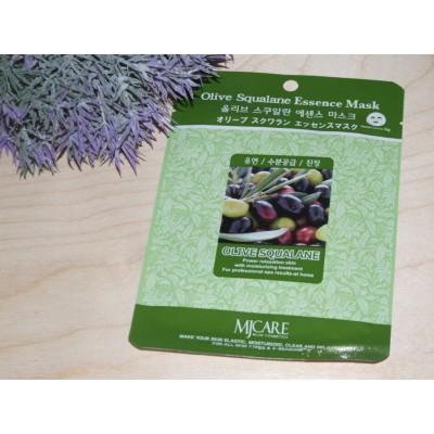 Маска тканевая для лица Mijin Essence Mask Olive Squalane олива