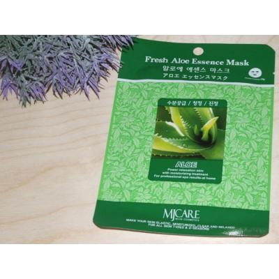 Маска тканевая для лица Mijin Essence Mask Fresh Aloe алоэ