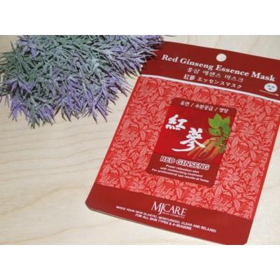 Маска тканевая для лица Mijin Essence Mask Red Ginseng (женьшень) (23 гр)