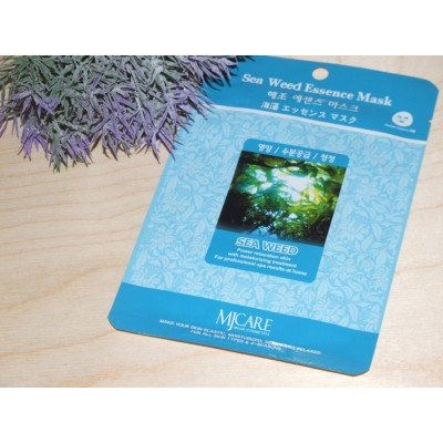 Маска тканевая для лица Mijin Essence Mask Sea Weed морские водоросли