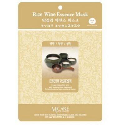 Маска тканевая для лица Mijin Essence Mask Rice Wine рисовое вино