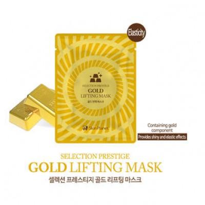 Mijin Маска тканевая для лица укрепляющая с золотом Selection Prestige Gold Lifting Mask
