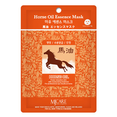 Маска тканевая для лица Mijin Essence Mask Horse Oil лошадиный жир